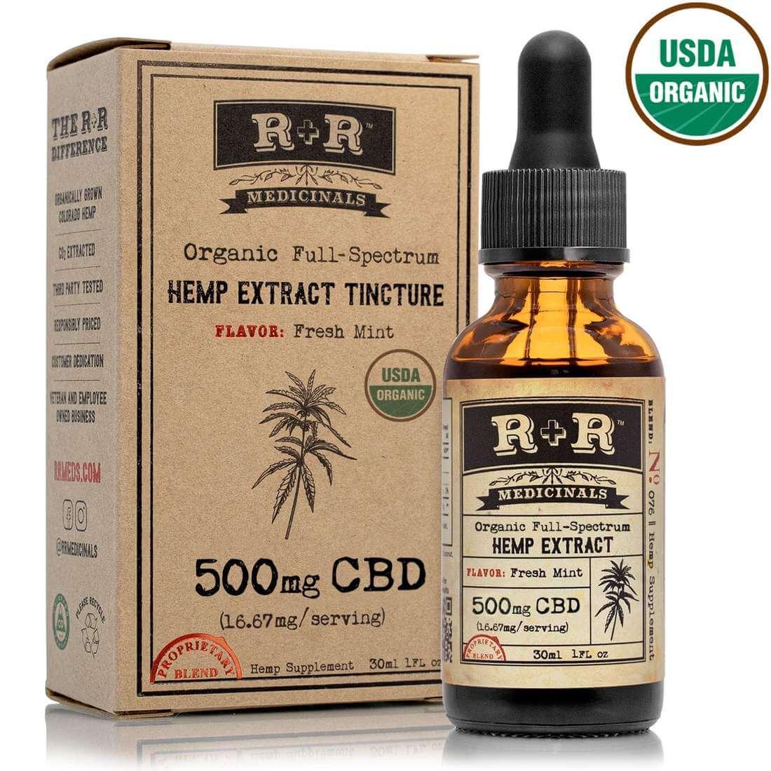 r&r medicinals CBD Tincture (Fresh Mint) 500mg