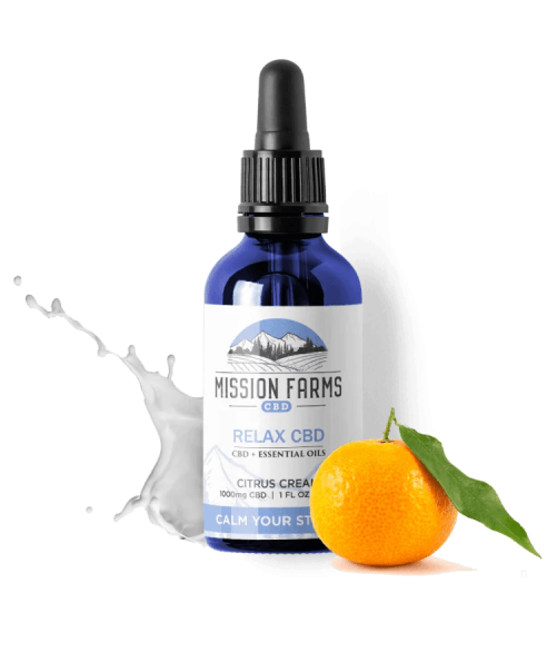 Mission Farms CALM YOUR STRESS WITH RELAX CBD OIL